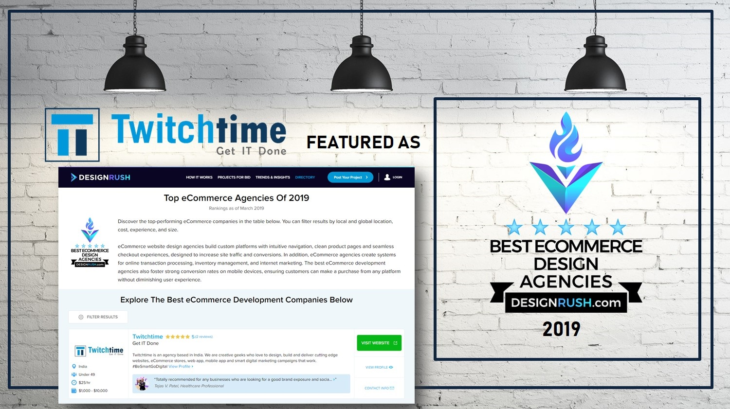 Twitchtime Featured as Top eCommerce Website Development