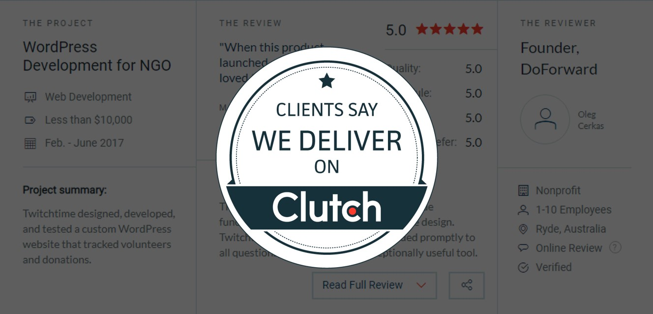 Twitchtime Featured Among The Best Web Design Companies In India On Clutch